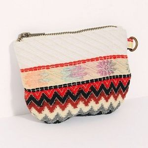 Free People Serape Canvas Coin Pouch NWOT